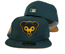 Load image into Gallery viewer, Dark Green Chicago Cubs Tan Bottom 1962 All Star Game New Era 59Fifty Fitted