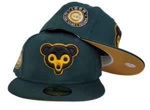 Dark Green Chicago Cubs Tan Bottom 1962 All Star Game New Era 59Fifty Fitted