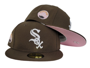 Brown Chicago White Sox Pink Bottom 5oth Anniversary Side patch New Era 59Fifty Fitted