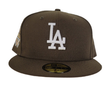 Load image into Gallery viewer, Brown Los Angeles Dodgers Soft yellow Bottom 50th Anniversary New Era 59Fifty Fitted
