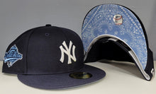 Load image into Gallery viewer, Navy Blue New York Yankees Sky Paisley Bottom 1996 World Series Side Patch New Era 59Fifty Fitted