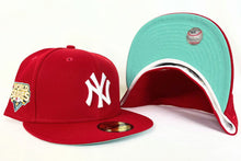 Load image into Gallery viewer, Red New York Yankees Mint Green Bottom 2009 World Series New Era 59Fifty Fitted