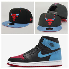 Load image into Gallery viewer, Matching New Era Chicago Bulls Snapback Hat For Jordan 1 UNC to Chicago