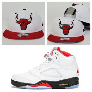 Matching New Era Chicago Bulls Snapback Hat For Jordan 1 UNC to Chicago