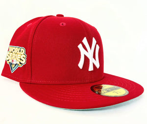 Red New York Yankees Mint Green Bottom 2009 World Series New Era 59Fifty Fitted