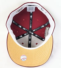 Load image into Gallery viewer, Burgundy Arizona Diamondbacks Gold Bottom 1998 Inaugural Season New Era 59Fifty Fitted