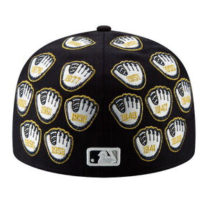 NEW ERA SPIKE LEE X NEW YORK YANKEES CHAMPIONSHIP GOLD TRIM GLOVE 59FIFTY FITTED HAT