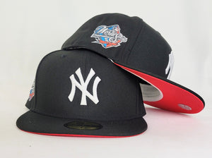 Black New York Yankees Infrared Bottom 1998 World Series Side Patch New Era 59Fifty Fitted