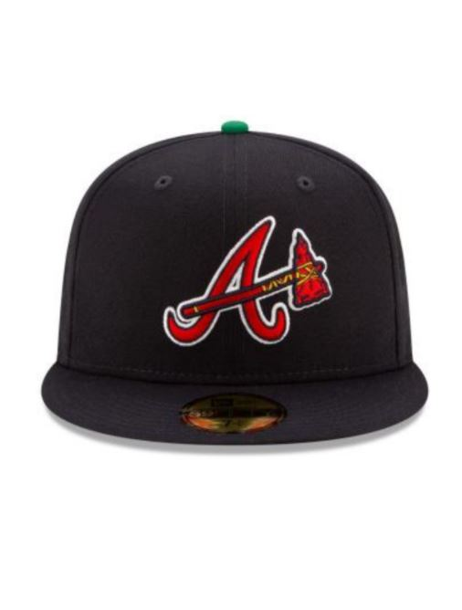 NEW ERA ATLANTA BRAVE OFFSET NAVY BLUE 59FIFTY FITTED HAT