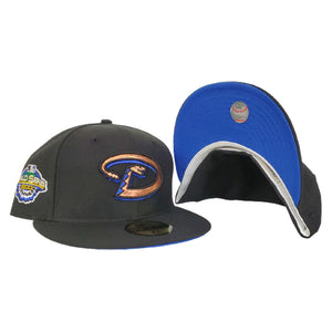 Arizona Diamondbacks Black Royal Blue Bottom 2001 World Series New Era 59Fifty Fitted