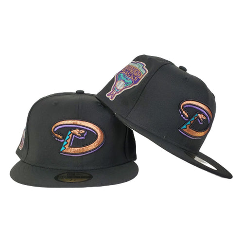 Arizona Diamondbacks Black Metallic Copper 1998 Inaugural Season New Era 59Fifty Fitted