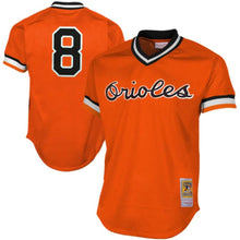 Load image into Gallery viewer, Baltimore Orioles Cal Ripken Jr Mitchell & Ness Orange 1988 Authentic Mesh Batting Practice Jersey