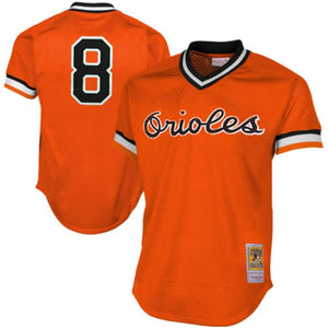 Baltimore Orioles Cal Ripken Jr Mitchell & Ness Orange 1988 Authentic Mesh Batting Practice Jersey