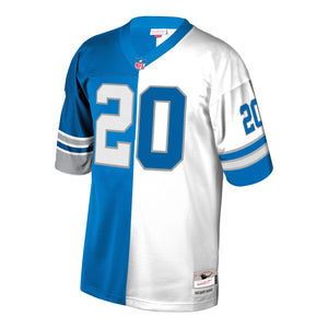 Barry Sanders Detroit Lions Mitchell & Ness Retired Player Split Replica Jersey – Blue/White