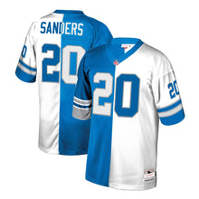 Load image into Gallery viewer, Barry Sanders Detroit Lions Mitchell & Ness Retired Player Split Replica Jersey – Blue/White