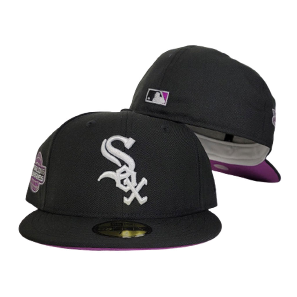 Black Chicago White Sox Grape Purple Bottom 2005 World Series New Era 59Fifty Fitted