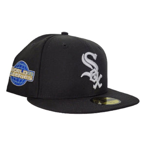 Black Chicago White Sox Icy Blue Bottom 2005 World Series New Era 59Fifty Fitted