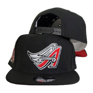 Black Los Angeles Angels 50th Anniversary Red Bottom 9Fifty New Era Snapback