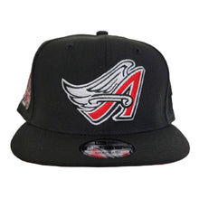 Load image into Gallery viewer, Black Los Angeles Angels 50th Anniversary Red Bottom 9Fifty New Era Snapback