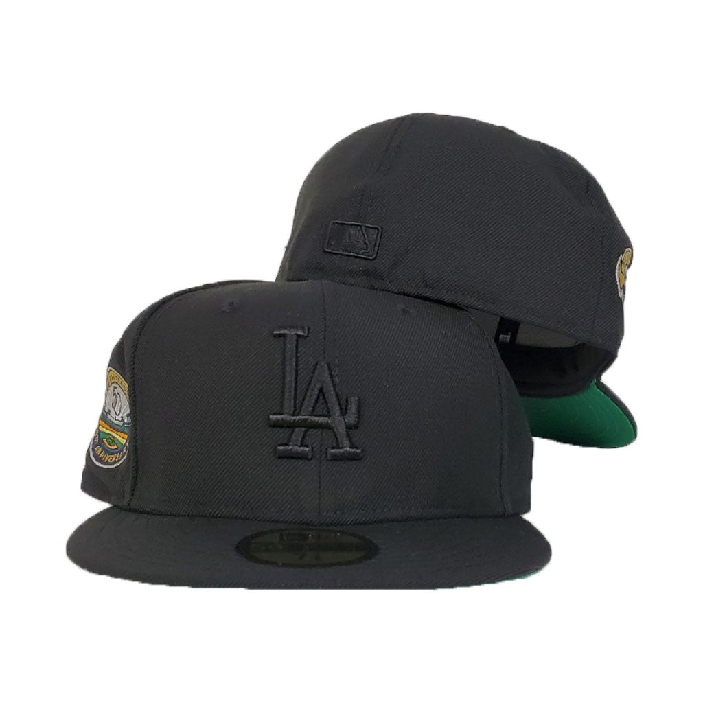 Black Los Angeles Dodgers Green Bottom 50th Anniversary New Era 59Fifty Fitted