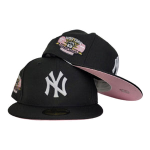 Black New York Yankees Pink Bottom Subway Series New Era 59Fifty Fitted Hat