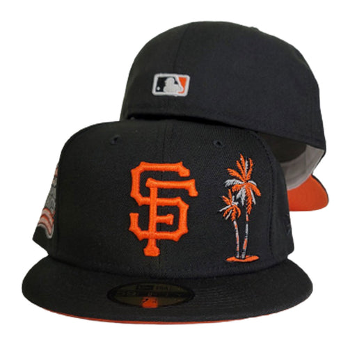 Black San Francisco Giants Orange Bottom 8X World Series Champions New Era 59Fifty Fitted