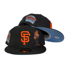 Load image into Gallery viewer, Black san Francisco Giants Icy Blue Bottom 6X World Series Champions New Era 59Fifty Fitted