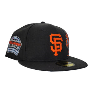 Black san Francisco Giants Icy Blue Bottom 6X World Series Champions New Era 59Fifty Fitted
