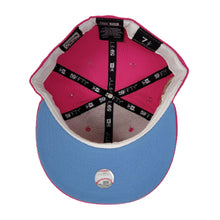 Load image into Gallery viewer, Bright Pink New York Yankees Icy Blue Bottom 1962 World Series New Era 59Fifty Fitted