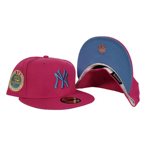 Bright Pink New York Yankees Icy Blue Bottom 1962 World Series New Era 59Fifty Fitted