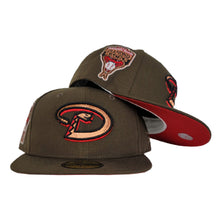 Load image into Gallery viewer, Brown Arizona Diamondbacks Red Bottom 1998 Inaugural Season New Era 59Fifty Fitted