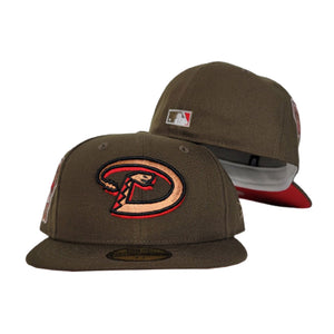 Brown Arizona Diamondbacks Red Bottom 1998 Inaugural Season New Era 59Fifty Fitted