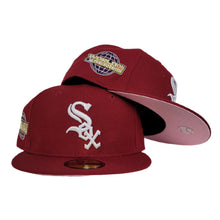 Load image into Gallery viewer, Burgundy Chicago White Sox Pink Bottom 2005 World Series New Era 59Fifty Fitted