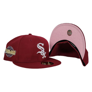 Burgundy Chicago White Sox Pink Bottom 2005 World Series New Era 59Fifty Fitted