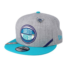 Load image into Gallery viewer, Charlotte Hornets New Era Heather Gray 2019 NBA Draft 9FIFTY Snapback Adjustable Hat