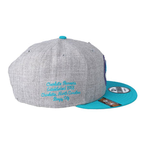 Charlotte Hornets New Era Heather Gray 2019 NBA Draft 9FIFTY Snapback Adjustable Hat