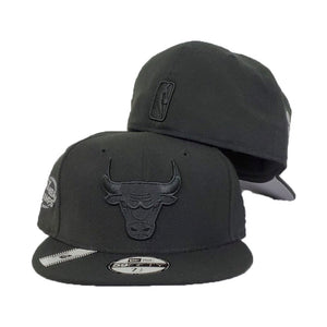 Chicago Bulls Black Reflective 6X NBA Champs New Era 59Fifty Fitted Hat