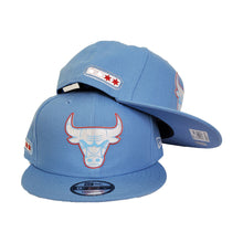 Load image into Gallery viewer, Chicago Bulls New Era Light Blue All-Star Game Flag Hook 9FIFTY Snapback Hat