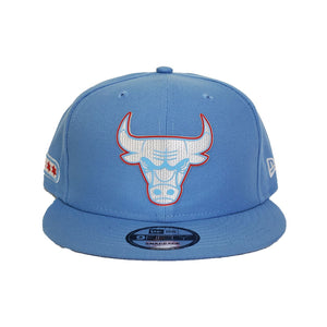 Chicago Bulls New Era Light Blue All-Star Game Flag Hook 9FIFTY Snapback Hat