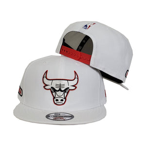 Chicago Bulls New Era Official White 9FIFTY Snapback Hat