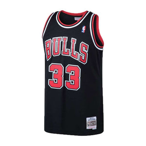 Chicago Bulls Scottie Pippen Mitchell & Ness Black 1997-98 Hardwood Classics Swingman Jersey