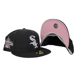 Chicago White Sox 2010 All Star Game 59Fifty New Era Black Fitted Pink Bottom