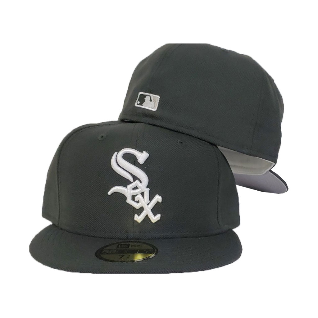 Chicago White Sox Black Cooperstown New Era 59Fifty On-field Fitted Hat