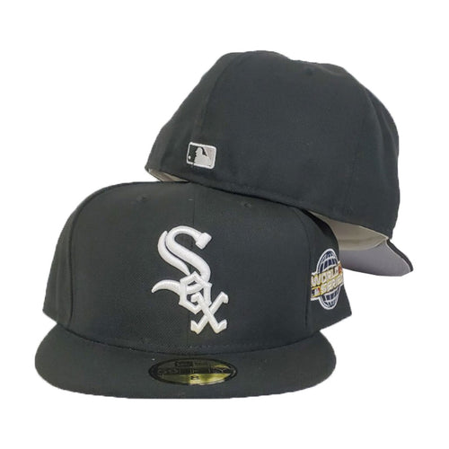 Chicago White Sox Black White Cooperstown 2005 World Series New Era 59Fifty Fitted Hat