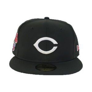 Cincinnati Reds Black 1976 World Series Cooperstown New Era 59Fifty Fitted HAt