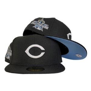 Cincinnati Reds Black Icy Blue Bottom 2010 All Star Game New Era 59Fifty Fitted