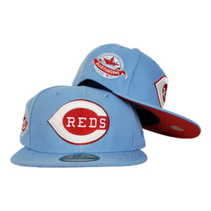 Cincinnati Reds Sky Blue Red Bottom 1988 All Star Game New Era 59Fifty Fitted