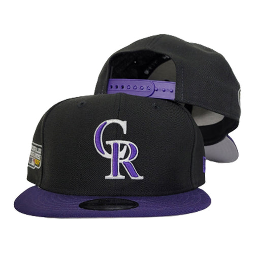 Colorado Rockies Black 2007 World Series Side Patch New Era 9Fifty Snapback