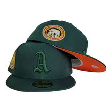Load image into Gallery viewer, Dark Green Philadelphia Athletics Orange Bottom 1911 World Series New Era 59Fifty Fitted
