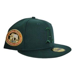 Dark Green Philadelphia Athletics Orange Bottom 1911 World Series New Era 59Fifty Fitted